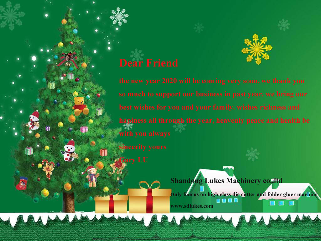 Lukes machinery(die cutting machine) all teams wishes all clients happy new year